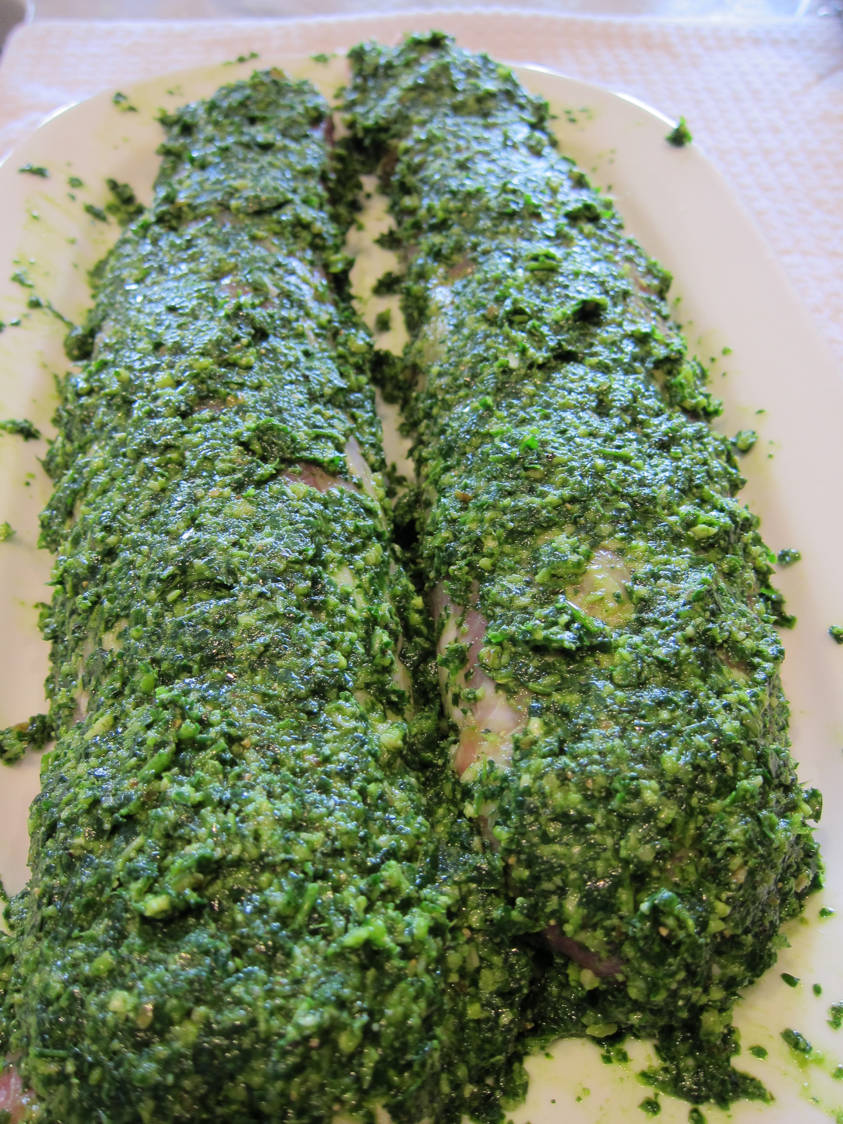 Pork Tenderloin with Pesto Rub