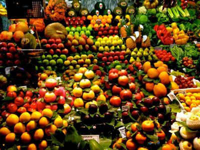 Fruit at one of Barcelona 