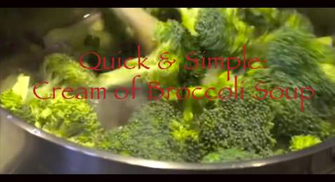 Quick & Simple - Cream of Broccoli Soup and Substitution Tips!